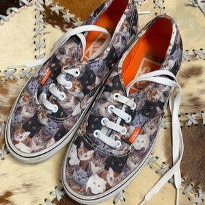 Vans cat sneakers aspca women's sz 7.5
